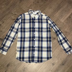 Old Navy, Blue, Yellow, White Plaid Button Up Shir